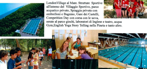 London Village English Sport Camp al Mare